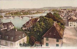 Schweiz Basel Die 3 Rheinbruecken