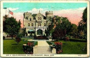 1927 Omaha, Nebraska Postcard GEO. A. JOSLYN RESIDENCE, 39th & Davenport Mansion