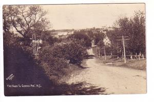 Real Photo, The Road to Grand Pre, Nova Scotia AZO Graham Photo