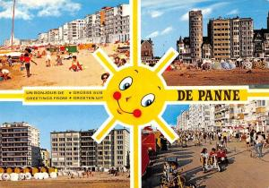 Belgium Bonjour Greetings Groeten uit De Panne multiviews