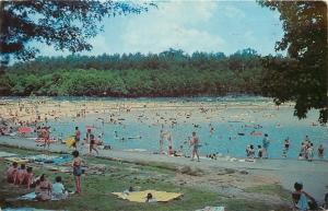 Benton Kentucky~Kentucky Dam Village State Park~Folk Swimming at Beach 1963 PC