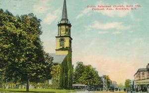 Dutch Reformed Church on Flatbush Avenue - Brooklyn NY, New York - pm 1910 - DB