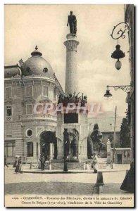 Old Postcard Chambery Elephants Fountain