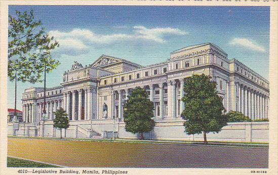 Philippines Manila Legislative Building Curteich