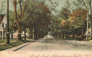 Thomaston ME Horse & Buggy on Dirt Main St~Homes~Mid-Autumn~Signs on Trees 1906