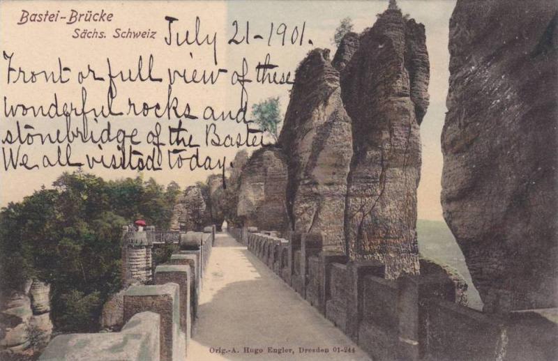 Bastei- Brucke, Sachs. Schweiz (Saxony), Germany, 1900-1910s