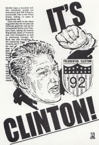 Clinton Is Declared US President Limited Edition of 500 Postcard