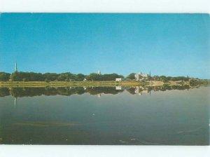 Pre-1980 RIVER SCENE Fredericton New Brunswick NB AE5927