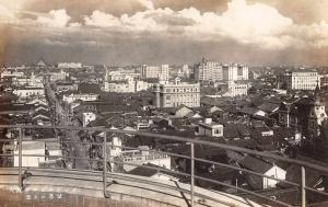 Osaka Japan View from Osaka Gas Building Roof Real Photo Antique Postcard J77614
