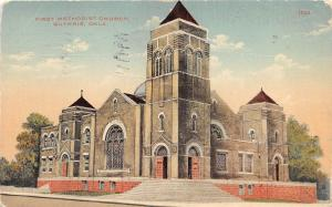 B54/ Guthrie Oklahoma Ok Postcard 1911 First Methodist Church Building 2