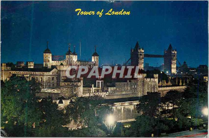 Modern Postcard The Tower at Night London