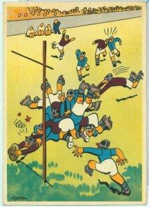 Lib7459  - VINTAGE  SPORT POSTCARD -  Littorali GAMES 1935  RUGBY