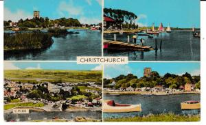 Post Card Dorset CHRISTCHURCH 4 views Dearden & Wade, Ltd. C.M.303
