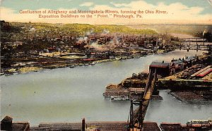 Confluence of Allegheny and Monongahela Rivers Pittsburgh Pennsylvania, PA