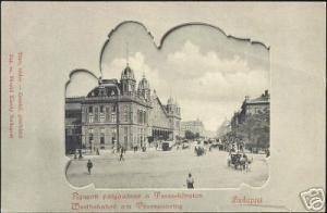 hungary BUDAPEST Westbahnhof Theresienring Station 1899