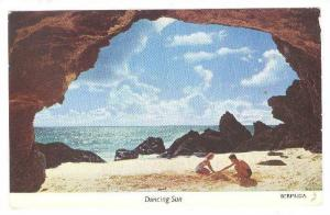 Childrem Playing On The Pink Sands Of The Natural Arches  Beach, Dancing Sun...