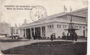 BF17111 exposition de charleroi 1911 palais des travaux belgium front/back image