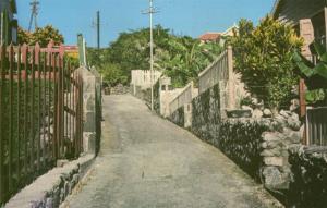 saba, N.W.I., Captains Quarters Walk (1960s)