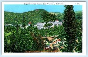 SAN FRANCISCO, California CA ~ Birdseye LAGUNA HONDA HOME ca 1940s Postcard
