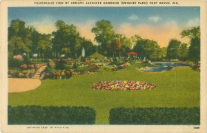 Panoramic View of Jaenicke Gardens Swinney Park, Fort Wayne, Indiana