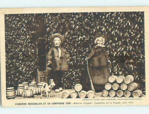 1933 foreign ANTIQUE DOLLS POSED AT DOLL EXPOSITION IN LYON FRANCE HL7492