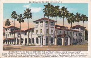 California Corning Hotel Maywood The Home Of The Big Black Olive Curteich