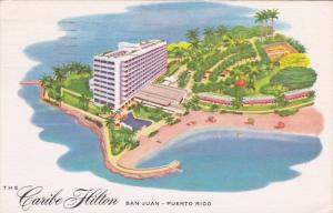 The Caribe Hilton, San Juan, Puerto Rico, 1957 PU