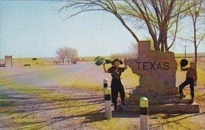 The Texas Welcome Marker Amarillo Texas