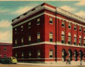 Opelika Alabama AL Court House and Post Office Unused UNP Vtg Linen Postcard