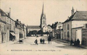 France Mourmelon Le Grand La Place d'Armes et l'Église 03.32