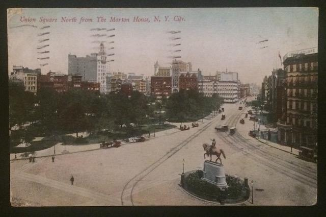 Union Square North from The Morton House NYC 1909 Rosin & Co 534