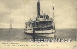 Steamer, Fred'k De Bary Steam Ship Postcard Post Cards Unused