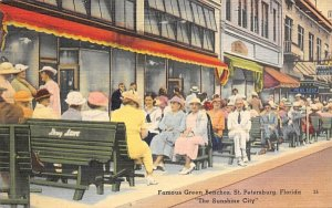 Famous Green Benches St Petersburg, Florida Postcard