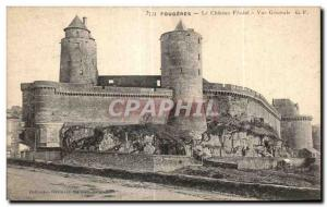 Old Postcard Fougeres Chateau Feodal Vue Generale