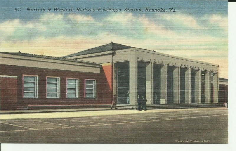 Roanoke,Va., Norfolk and Western Railway Passenger Station