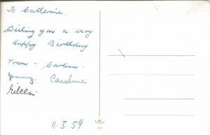 Vintage 1959 Postcard Zum Geburtstag Die Besten Wünsche Birthday
