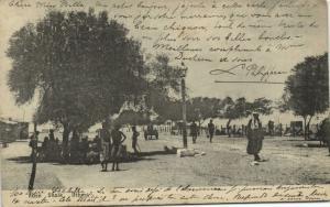 yemen, ADEN, Shaik Othman, Street Scene with People (1910s) Stamp