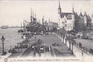ANVERS, Antwerp, Belgium; Debarcadere, Place et Musee du Steen, Vue du Promen...