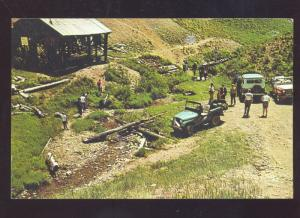 RED RIVER NEW MEXICO HOUCK EDISON MINE GOLD MINING VINTAGE POSTCARD CARS