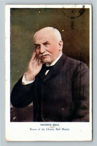Morris Selz, Donor Of The Liberty Bell Medals, Vintage c1909 Postcard