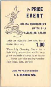 1930s Advertising Postcard T.S. MARTIN CO. Helena Rubenstein's Cleansing Cream