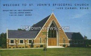 St. John's Episcopal Church in Charlotte, North Carolina