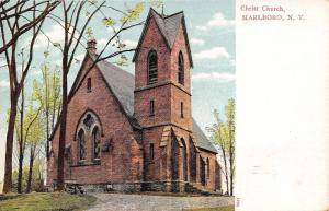Marlboro New York~Christ Church in Woods~Dirt Path~1906 Postcard