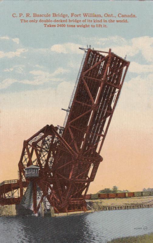 FORT WILLIAM, Ontario, Canada, 1900-10s; C. P. R. Bascule Bridge