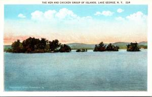 New York Lake George The Hen and Chicken Group Of Islands Curteich