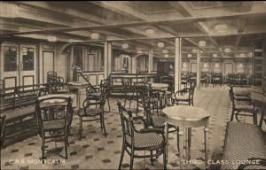 CPS Canadian Pacific Steamship Montcalm Interior c1910 Postcard #8