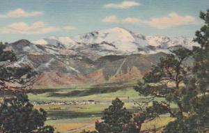 Colorado Colorado Springs Pikes Peak Curteich