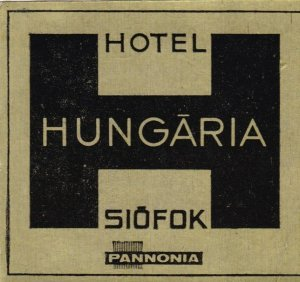 Hungary Siofok Hotel Hungaria Vintage Luggage Label lbl0066