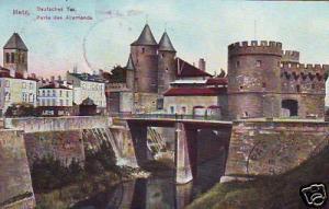CPA Lorraine Moselle Metz Porte des Allemands (p84486)