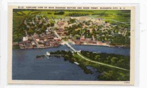 Airlane View of Main Business Section and River Front, Elizabeth City, North ...